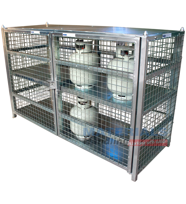 gas cylinder cage 24 x 9 kg capacity - Gas Cylinder Cages