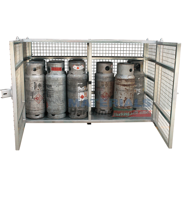 MSGB249 Gas Cylinder Storage Cages open doors