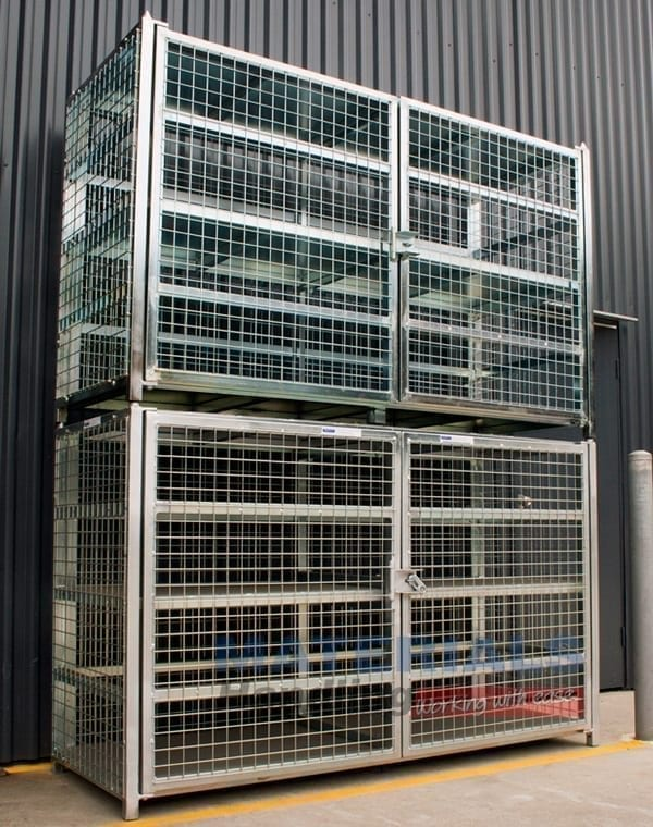 MSGB249 Gas Cylinder Storage Cages stacked