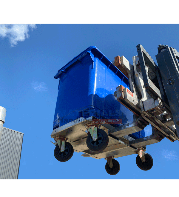 MW660PRB Wheelie Bin with Rotator Base Forklift Mounted