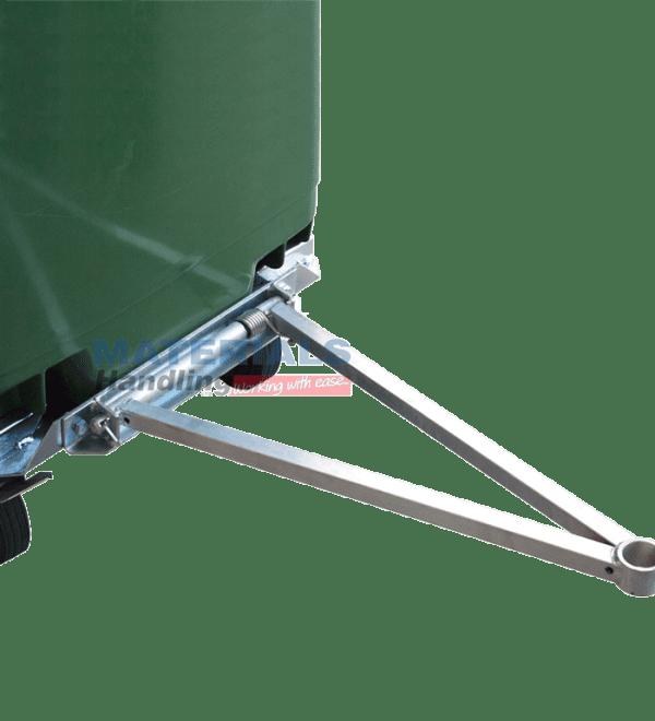 MW660T Optional Tow Bar Attachment for Wheelie Bin Rotator Base