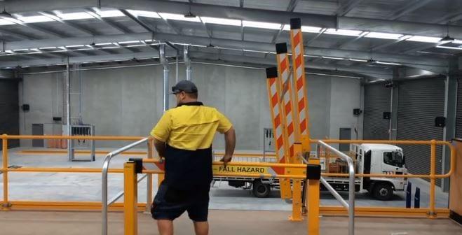 MZ1500-A Dual Action Mezzanine Gate closing gate