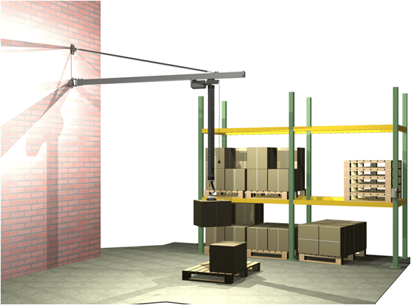MechRail jib crane vacuum tube lifter WM