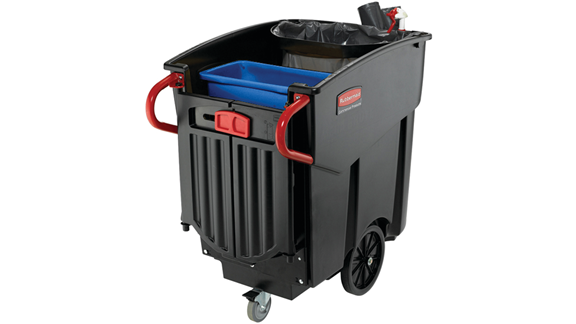 Mega Brute Mobile Waste Container with blue container