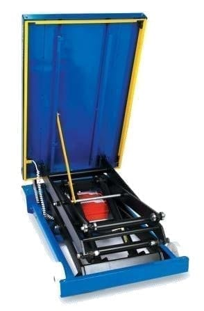 Mobile Scissor Lift Table under deck