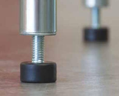 Modular Wire Shelving adjustable feet