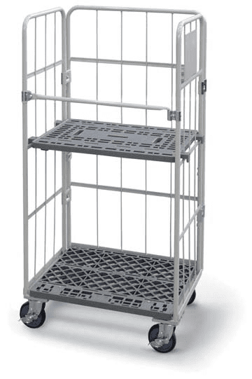 Nesting Cage Trolley with optional shelf