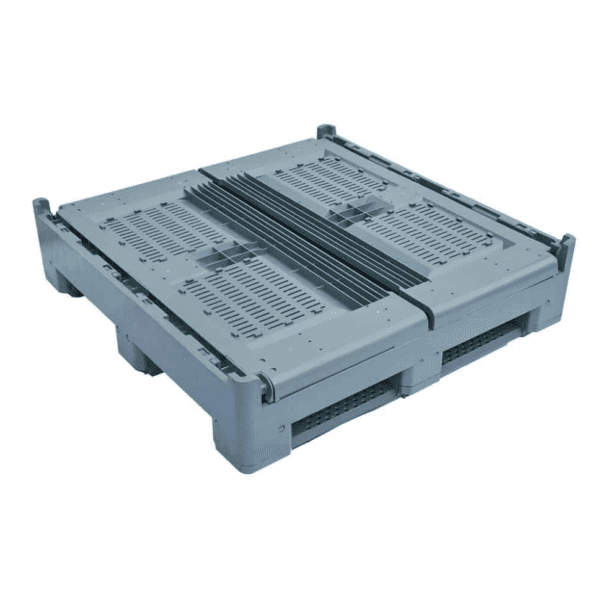 OZCRATE Foldable Plastic Pallet Bin Collapsed