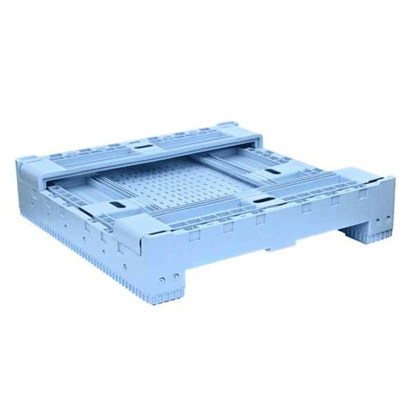 OZCRATE Foldable Plastic Pallet Bin Half Height Collapsed