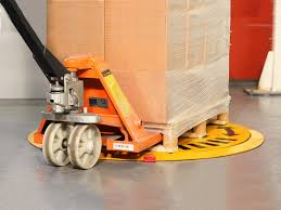 Paldisc with ramp and pallet jack