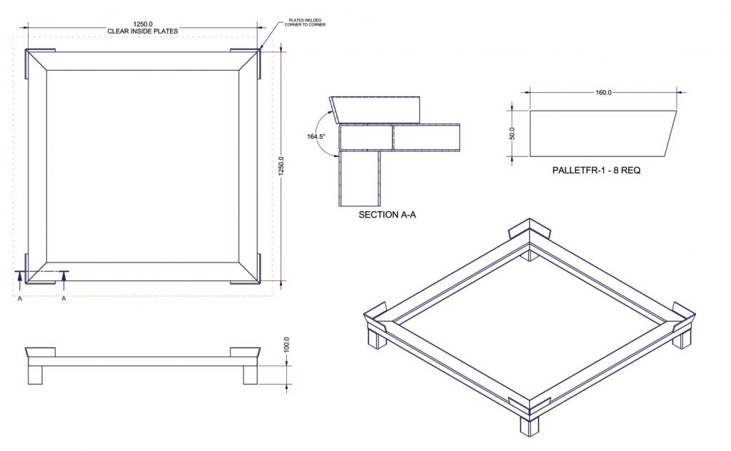 Pallet Stand Dimensions 2524 01