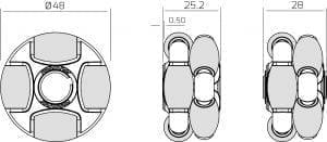 48 mm Rotacaster Wheels