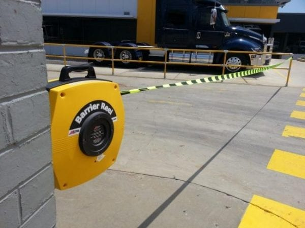 Retractable Safety Barrier Reel Application