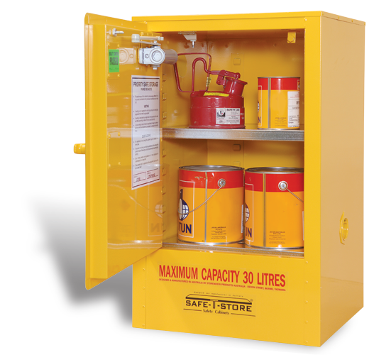 SC030 Indoor Dangerous Goods Storage Cabinets open