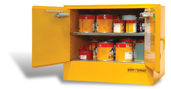 SC100 Indoor Dangerous Goods Storage Cabinets open