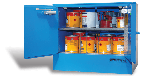 SC1008 Indoor Dangerous Goods Storage Cabinets open
