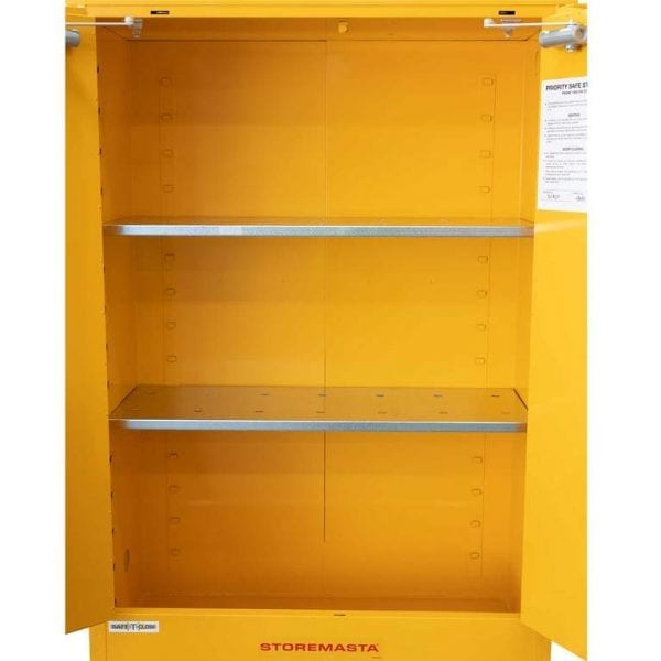 SC250 Indoor Dangerous Goods Storage Cabinets open empty