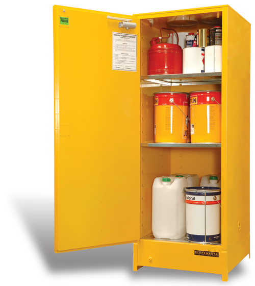 SC300 Indoor Dangerous Goods Storage Cabinets open