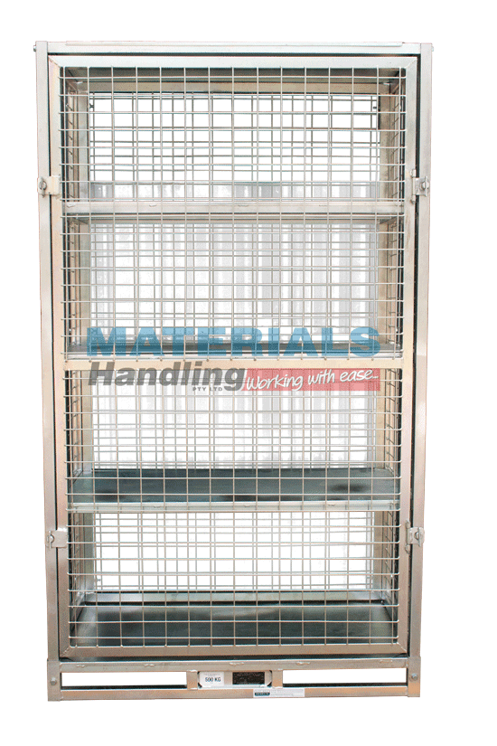 MSHC58 Storage Cage with Shelves