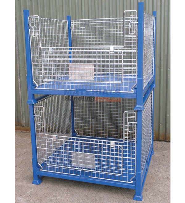 SMMC01 Collapsible Stillage Cage stacked old