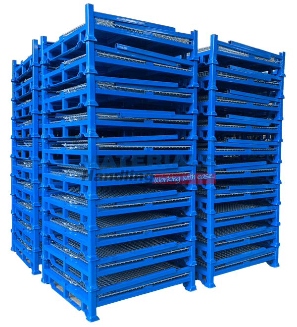 SMMC01 Collapsible Stillage Cage stacked