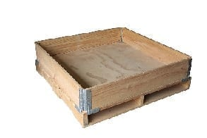 SPCS Standard 4 hinge pallet collar on timber pallet