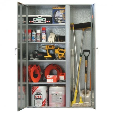 ST01 2 Door Cabinet Galvanised Security Storage Cabinets