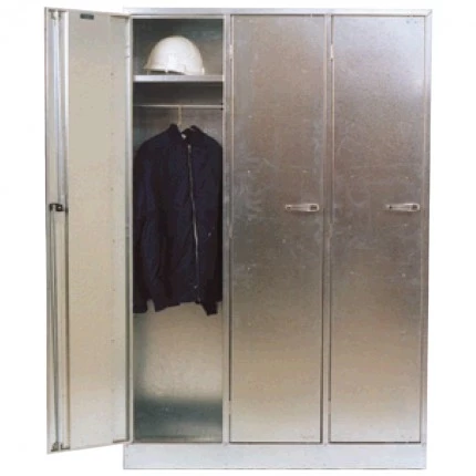 ST04 Triple Bank Cabinet Galvanised Security Storage Cabinets closed