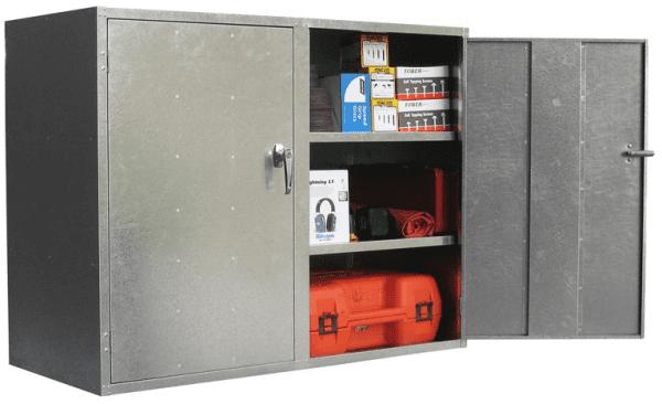 ST07 2 Door Cabinet Galvanised Security Storage Cabinets