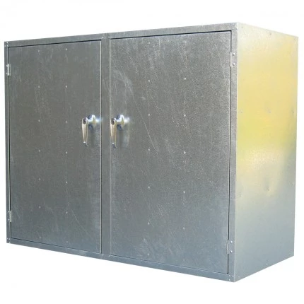 ST07 2 Door Cabinet Galvanised Security Storage Cabinets closed