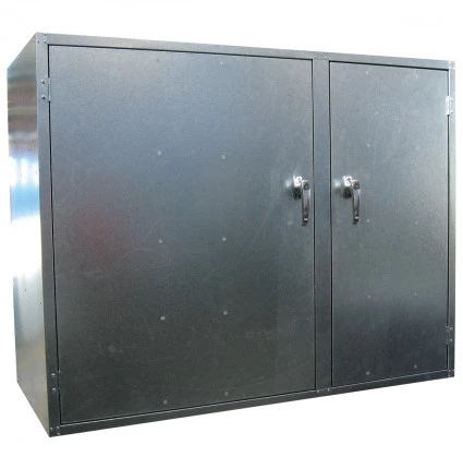 ST08 2 Door Cabinet Galvanised Security Storage Cabinets closed