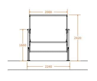 Sentry Mezzanine Safety Gate Dimensions Front View