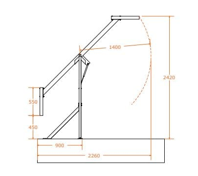 Sentry Mezzanine Safety Gate Dimensions Side View