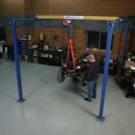 Shop Crane Modular Gantry in garage