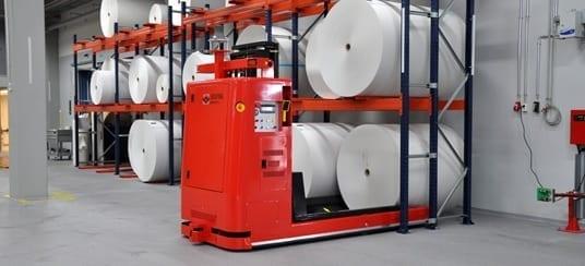 Solving AGV paper rolls