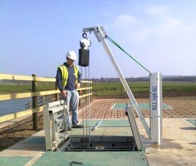 Porta-Davit 1000 Crane at Southern Water