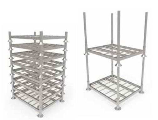 Stackable Post Pallet side by side