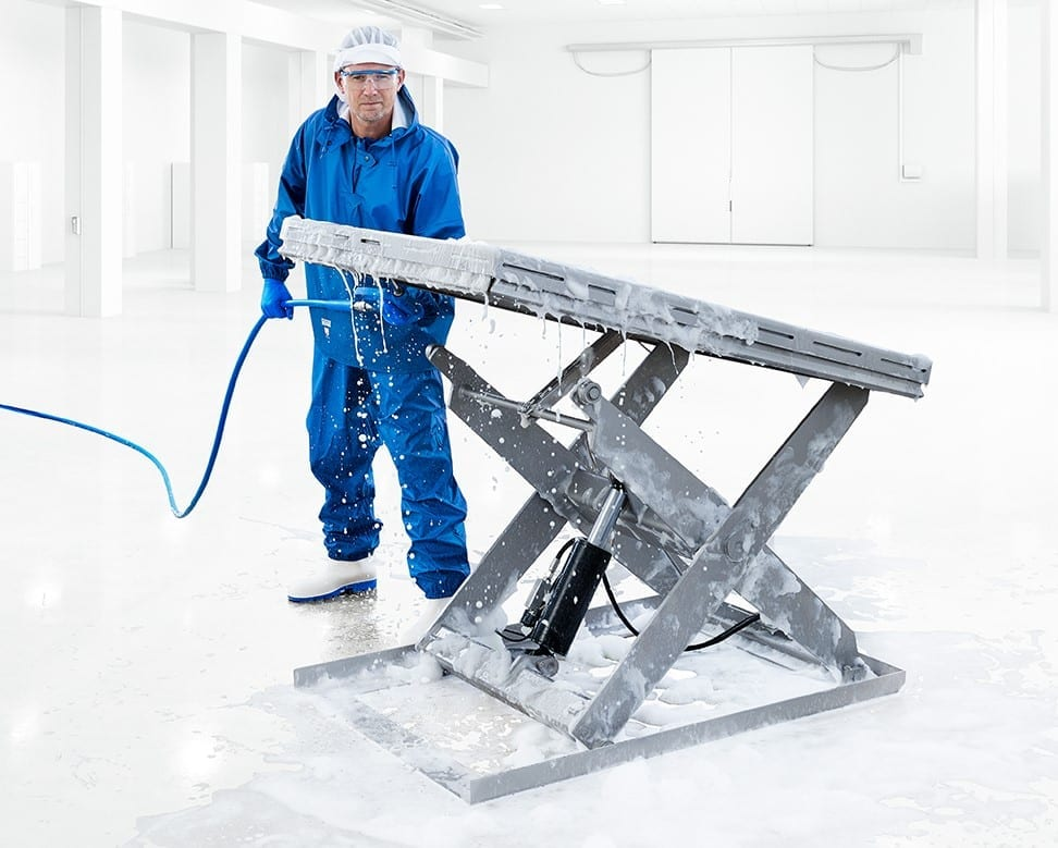 Stainless Scissor Lift Tables Hygiene Wash Down crop