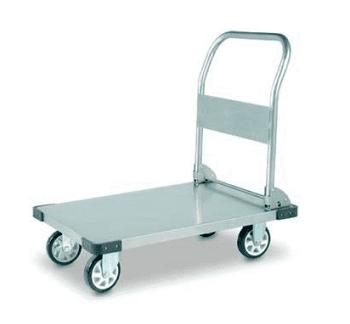 Stainless Steel Platform Trolleys - Foldable