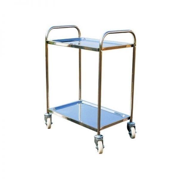 Stainless Steel Platform Trolleys - Simple Two Tiered