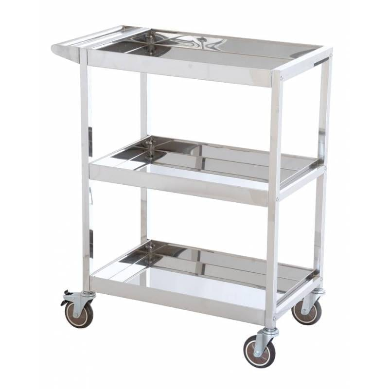 Stainless Steel Platform Trolleys - Three Tiered