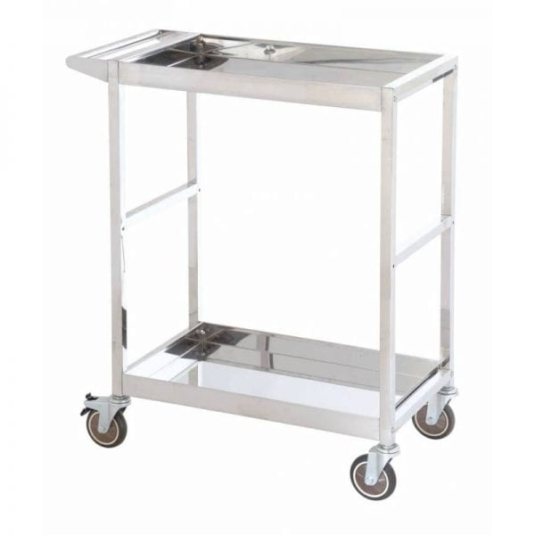 Stainless Steel Platform Trolleys - Two Tiered