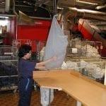 Emptying Vaculex TL sack