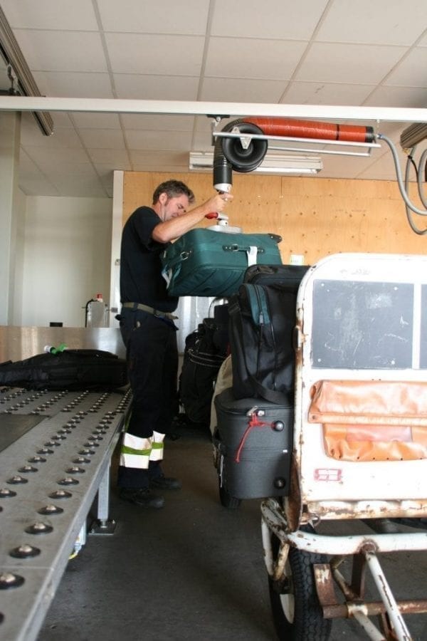 Baggage Handling with Vaculex TPH at Airport