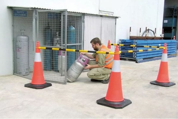 Traffic Safety Cones Retractable Bar RCB2 application