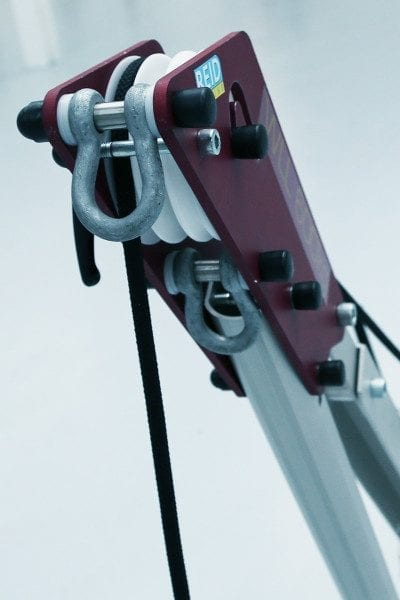 Porta-Davit Quantum Crane with Triple Sheave and Dual Winch
