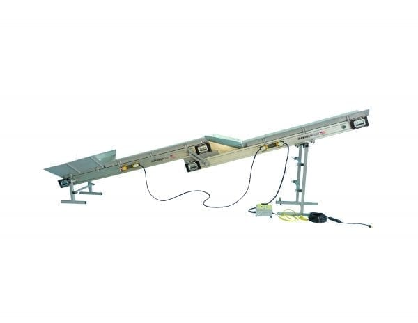 Two Conveyors with supports & hopper