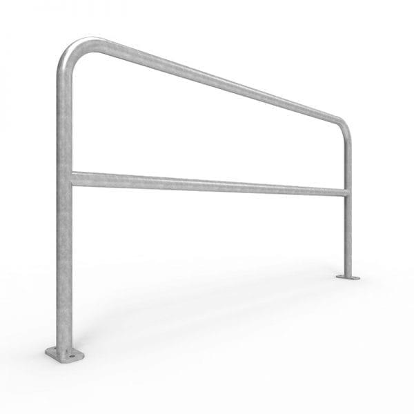 UBD200SM G U Bar double rail 2 metre surface mount Galvanised