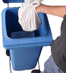 Wheelie Bins with foot pedal lid lifter