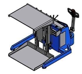 Argo Mobile Pallet Inverter Drawing